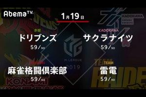 たろう VS 岡田 VS 前原 VS 黒沢 ドリブンズ、去年王者の意地を見せられるか!?【Mリーグ 1/19 第1試合メンバー】