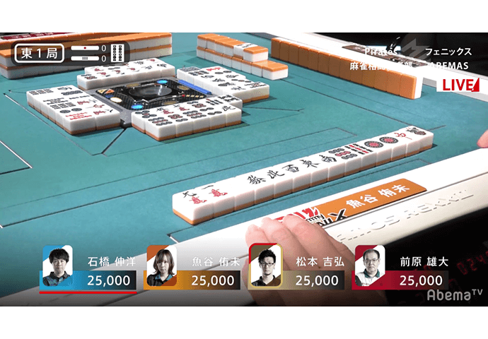 【2/27 Mリーグ 結果】魚谷が東1局7巡目テンパイ国士無双を和了し半荘最高スコアも更新!依然熾烈なボーダー争い!