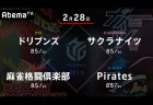 たろう VS 沢崎 VS 高宮 VS 小林 2位、5位、6位、7位のセミファイナル進出をかけた大激戦!【Mリーグ 2/28 第1試合メンバー】
