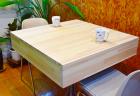 麻雀卓があっという間におしゃれなテーブルに変身!全自動麻雀卓用ウッドカバー販売中!