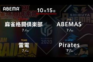 【10/13  Mリーグ2020 結果】サクラナイツ・堀がMリーグ初勝利!Pirates・小林もチームの苦境を打破する大きな1勝!