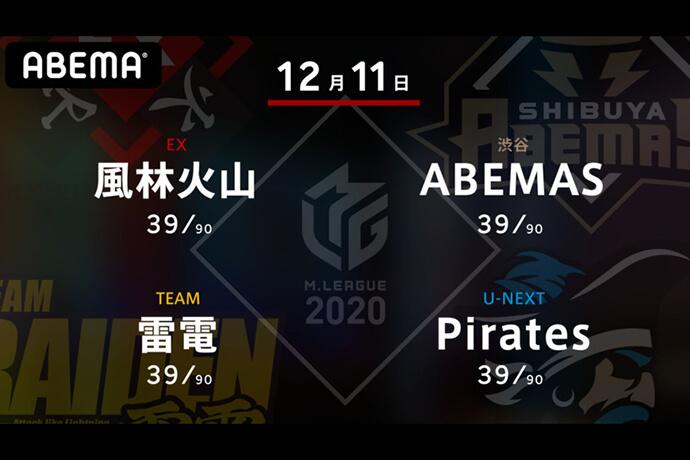 滝沢 VS 松本 VS 黒沢 VS 小林 今シーズンラス無しが3名!サバイバルマッチを勝ち残るのは!?【Mリーグ2020 12/11 第1試合メンバー】