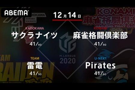 岡田 VS 高宮 VS 瀬戸熊 VS 石橋 先週連勝を決めた雷電が更なる浮上を狙う!【Mリーグ2020 12/14 第1試合メンバー】