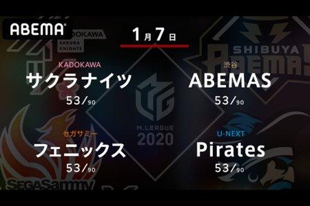 沢崎 VS 松本 VS 和久津 VS 朝倉 最下位のフェニックスは浮上のきっかけを掴めるか!?【Mリーグ2020 1/7 第1試合メンバー】