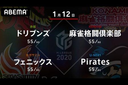 たろう VS 寿人 VS 近藤 VS 瑞原 準決勝進出を占う下位チーム同士の直接対決!【Mリーグ2020 1/12 第1試合メンバー】
