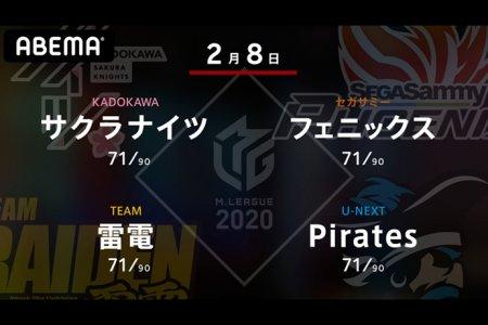 岡田 VS 魚谷 VS 瀬戸熊 VS 小林 2位、4位、7位、8位の戦い!更に熾烈を極めるセミファイナル進出争い!!【Mリーグ2020 2/8 第1試合メンバー】