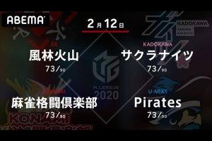 【2/11 Mリーグ2020 結果】雷電・瀬戸熊、ドリブンズ・たろうがトップ!ポイント差はキープで熾烈な終盤戦が続く!