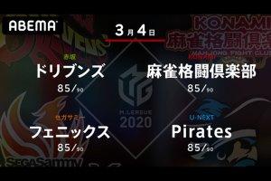 たろう VS 寿人 VS 近藤 VS 朝倉 7位、4位、8位、5位のチームの戦い!セミファイナル進出に向けて大事な最終局面!【Mリーグ2020 3/4 第1試合メンバー】