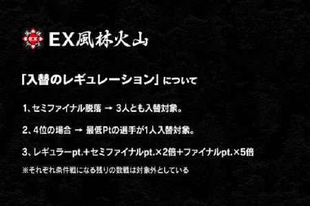 【Mリーグ】EX風林火山がチームメンバー入れ替えのレギュレーションを発表!