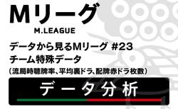 【チーム特殊データ】流局時聴牌率はドリブンズ、Piratesがワンツー!積極的な攻撃姿勢を見せる!【データから見るMリーグ #23】