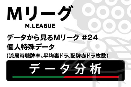 【Mリーグ個人特殊データ】流局時聴牌率上位は日向、朝倉、丸山! 赤ドラ、裏ドラ枚数ランキングも公開!【データから見るMリーグ #24】