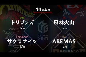 【10/4 Mリーグ2021 1戦目結果】ABEMAS・松本が開幕戦勝利!デビュー戦の風林火山・松ヶ瀬は2着!