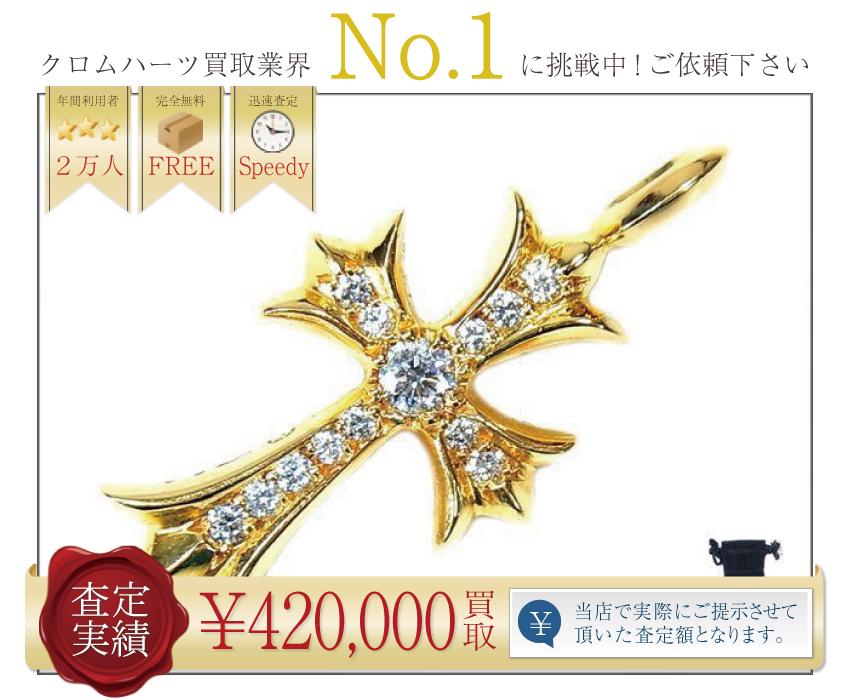 クロムハーツ高価買取!22K タイニークロスファット高額査定!