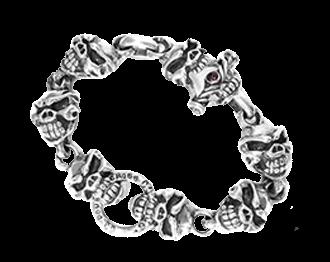 トラヴィスワーカー スカルブレスレット 画像