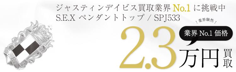 S.E.X ペンダント トップ / SPJ533 2.3万買取