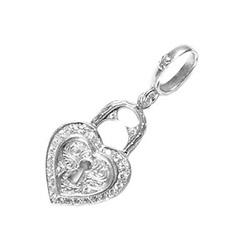 ローリーロドキン SMALL HEART LOCK PENDANT 01P656C 画像