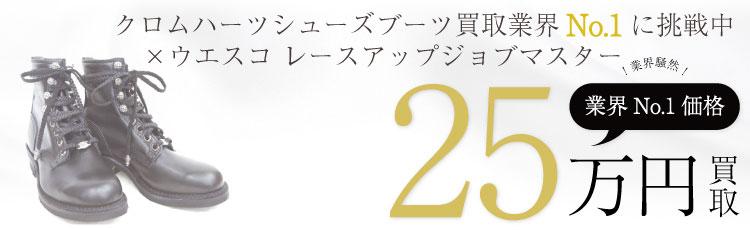 ×WESCO ウエスコ レースアップジョブマスターブーツ /JOB MASTER 8 HEIGTH DAGGER GROMMETS+CROSSBALL   25万買取