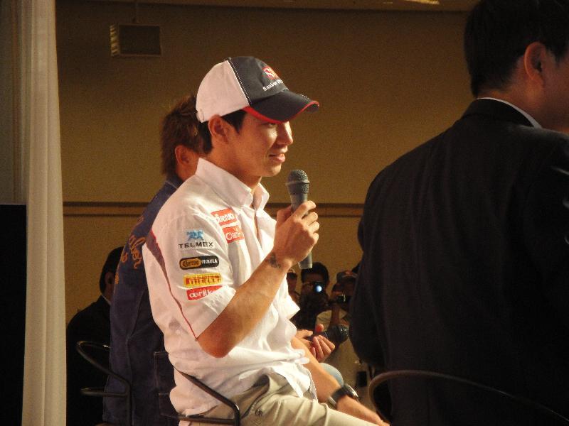 2012小林可夢偉氏のトークショー1