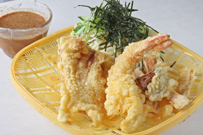 二代目考案 天ぷら冷麺(つけ麺)