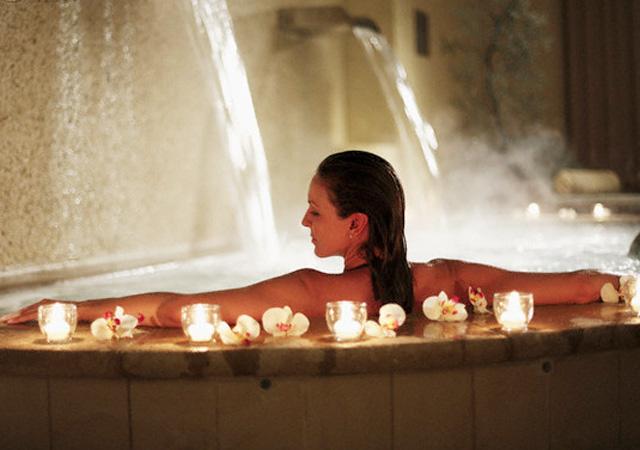 高級バスソルトで入浴