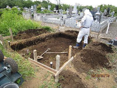 墓石根掘り