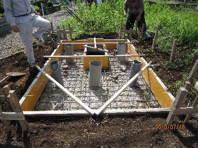 墓石型枠工事
