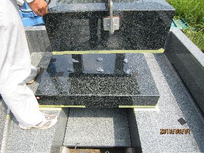 墓石据付5