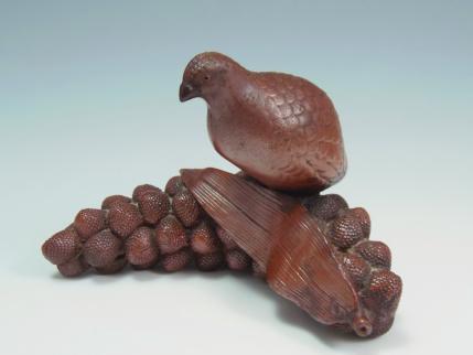 鳥 陶器 置物
