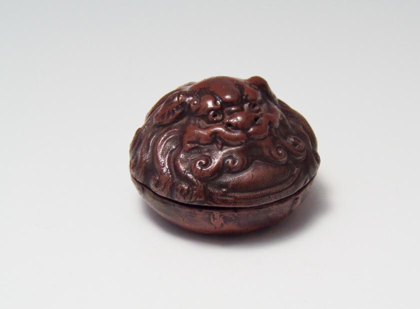 獅子香合 茶道具