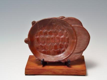 亀彫皿 備前焼