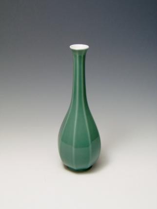 花瓶 青磁