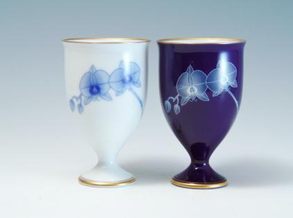ペアワインカップ 香蘭社
