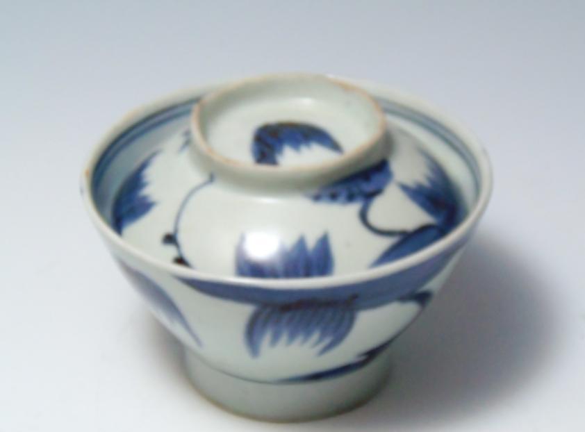 古伊万里 広東型蓋付飯碗 茶碗