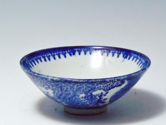 有田焼 飯碗コンニャク印判茶碗 骨董品