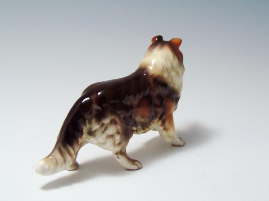 犬 コリー 陶器