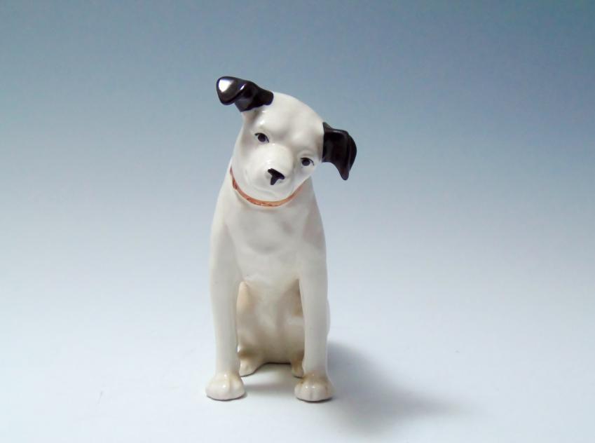 ビクター ニッパー犬 陶器 置物