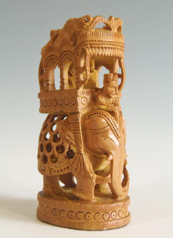 ガネーシャ像 インド製 サンダルウッド(白檀)