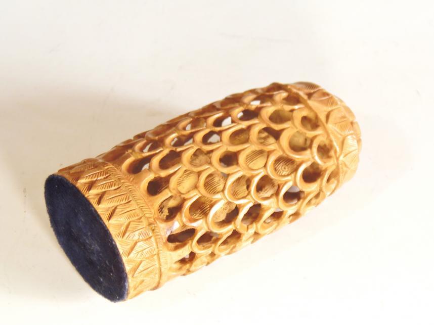 インド製 木彫り 置物 象
