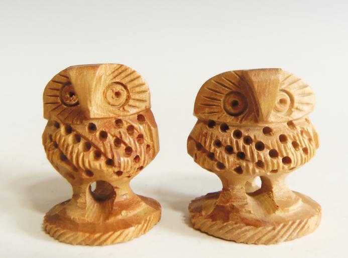 木彫り 置物 フクロウ