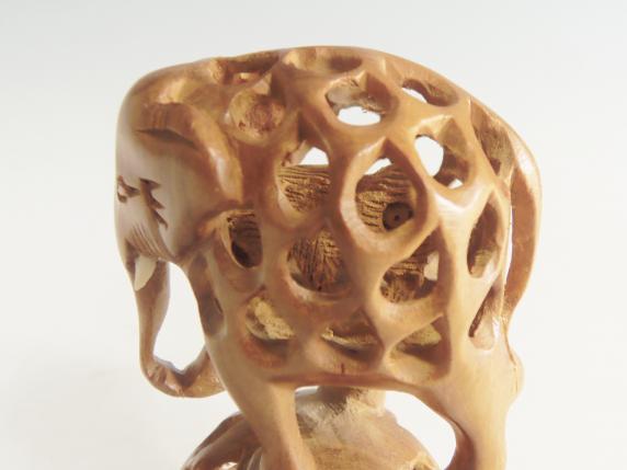 木彫 置物 象