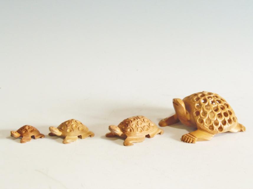 木彫り 置物 亀