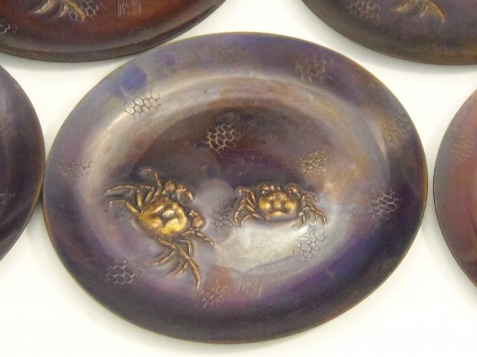 銅製蟹小皿