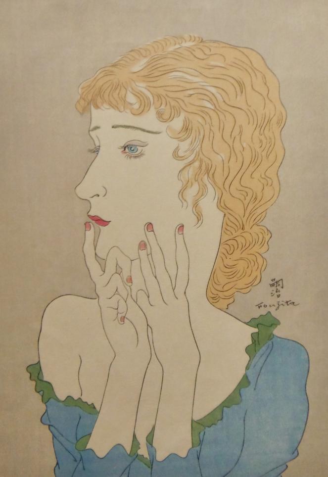 レオナール・フジタ 金髪の女性 木版画 販売