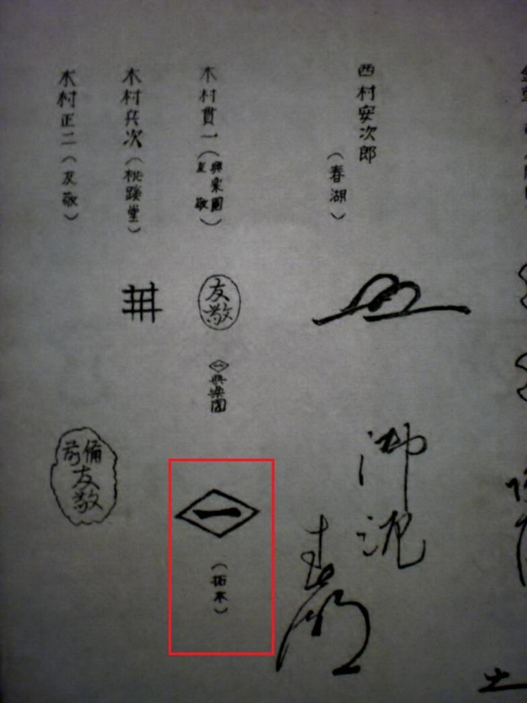 第13代 木村長十郎友敬 木村貫一 拓本