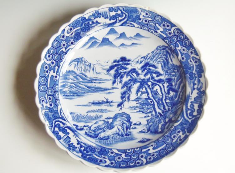 大皿 山水画 飾り皿