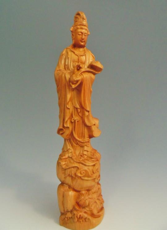 木彫 観音菩薩像