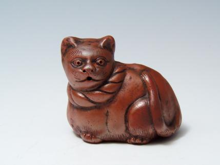 猫陶器置物