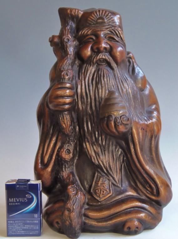 陶器 置物 七福神 寿老人