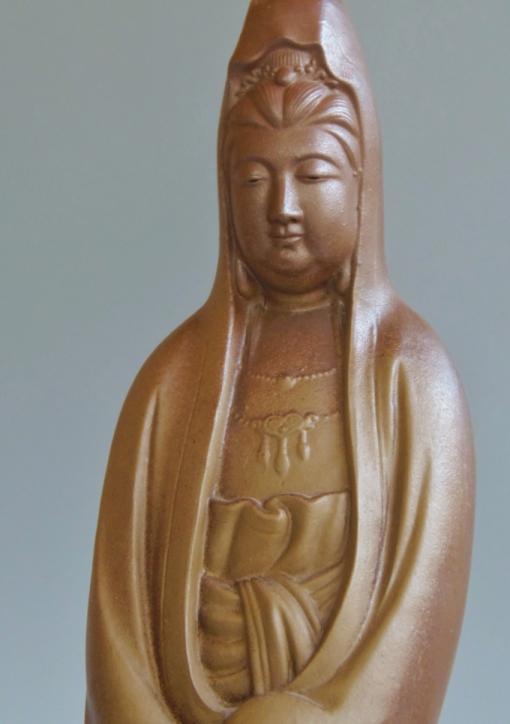 備前焼 観音 置物 仏像