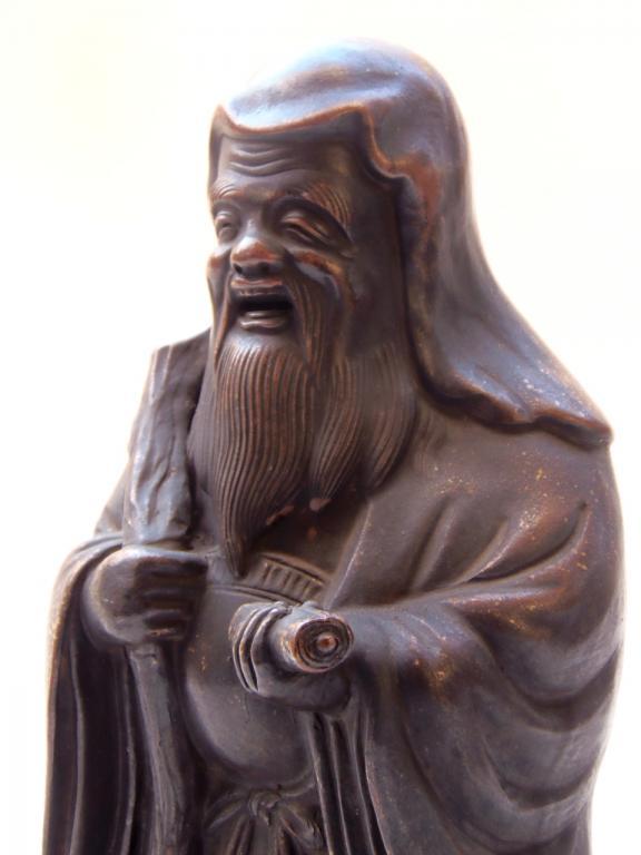 備前焼 置物 七福神 寿老人